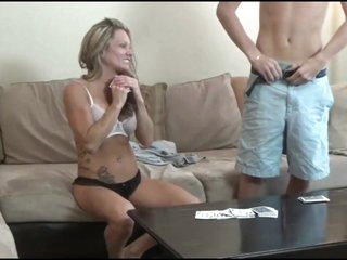 Momcams and her young gentleman personify poker