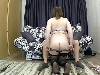 Along to stepmother with a heavy bore seduced her son for sex. mom coupled with son blowjob