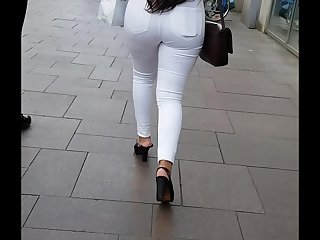 White Jeans botheration hot