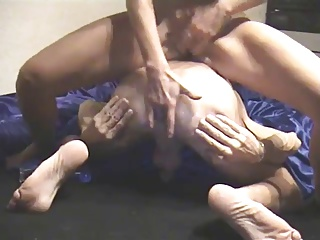 Homemade couple male anal game