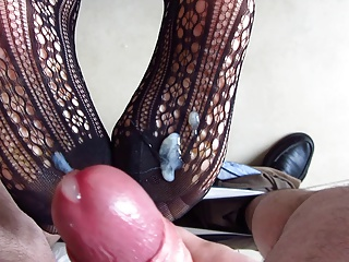Feet in bodystocking creamed