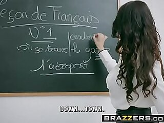 Brazzers - Fat Tits at Omnibus -  Fling Languages scene starring Anissa Kate and Marc Rose-coloured