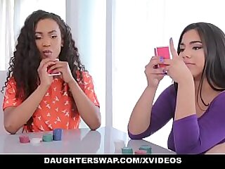 DaughterSwap - Hot Latina Bestfriends Making out Daddys