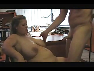 Hot BBW fucked in office..