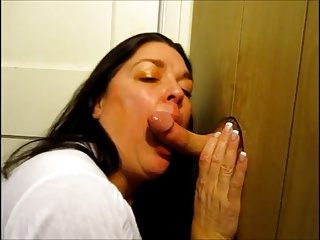 Gloryhole rag blowjob II