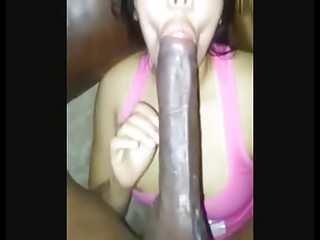 Horny latina amateur destroyed by giant black cock