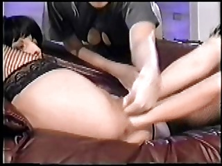 Huge double pussy fisting