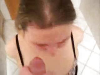 big facial in bathroom