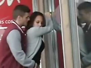 voyeur stopped up spanish couple