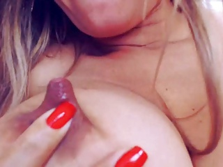 Long nipples milk filled get sucked and squirted