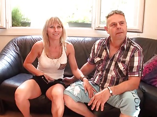 sexy milf gets fucked next to her husband