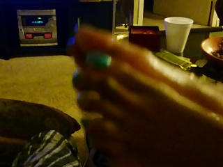 ebony pretty toes footjob
