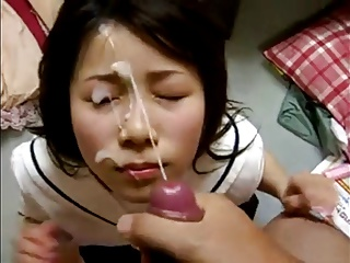 Cumshot amateurs - dressed facials